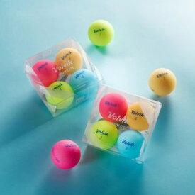 VOL-VIVLITEASST ボルビック ゴルフボール ビビッド ライト 4ピース パック(シャーベットブルー、シャーベットピンク、シャーベットオレンジ、シャーベットイエロー) VOLVIK VIVID LITE 4pc Pack