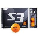 VOL-S3OR ボルビック ゴルフボール S3 (オレンジ) 1ダース 12個入り VOLVIK S3