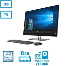 4YR07AA-AAAC HP(ヒューレット・パッカード) 27型デスクトップパソコン HP Pavilion 27-xa0170jp (Core i7/メモリ 8GB/SSD 256GB + HDD 2TB)