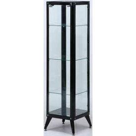 98842 不二貿易 ガラスコレクションケース4段(ブラック) TMG-G78 [98842フジボウエキ]