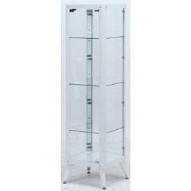 98843 不二貿易 ガラスコレクションケース4段(ホワイト) TMG-G78 [98843フジボウエキ]
