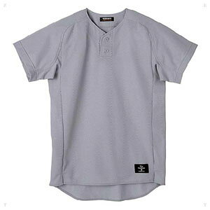 DS-STD30TA-SLV-O デサント 野球・ソフトボール用ユニフォームシャツ(SLV・サイズ:O) DESCENTE ハーフボタンシャツ(レギュラーシルエット)