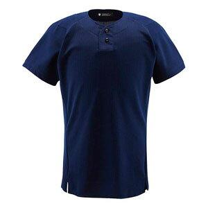 DS-DB1012-NVY-M デサント 野球・ソフトボール用ユニフォームシャツ(NVY・サイズ:M) DESCENTE ハーフボタンシャツ