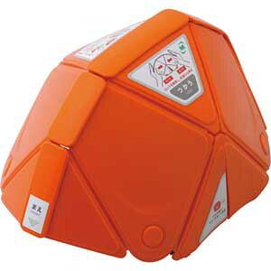 TSC-10-OR ミドリ安全 防災用折りたたみヘルメット フラットメット オレンジ Flatmet