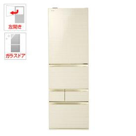 (標準設置料込)GR-R500GWL-ZC 東芝 501L 5ドア冷蔵庫(ラピスアイボリー)【左開き】 TOSHIBA