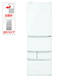 (標準設置料込)GR-R500GWL-UW 東芝 501L 5ドア冷蔵庫(クリアグレインホワイト)【左開き】 TOSHIBA