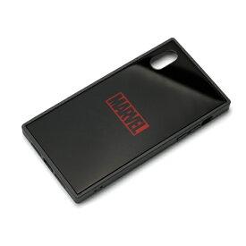 PG-DCS620BK PGA iPhone XR用 ガラスハイブリッドケース MARVEL ロゴ(ブラック)