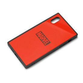 PG-DCS622RD PGA iPhone XR用 ガラスハイブリッドケース MARVEL ロゴ(レッド)