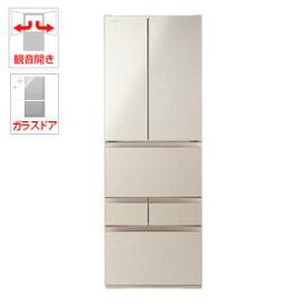 (標準設置料込)GR-R510FH-EC 東芝 509L 6ドア冷蔵庫(サテンゴールド) TOSHIBA FHシリーズ
