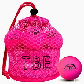 T-2MP 飛衛門 TOBIEMON R&A公認球 12球 蛍光マットボール(ピンク) メッシュバッグ入 ゴルフボール