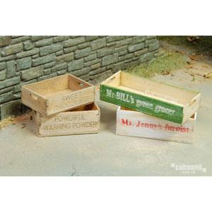 1/35 フロントラインシリーズ アンティーク木箱 4種入り【FS-009】 cobaanii mokei工房(コバアニ模型工房)