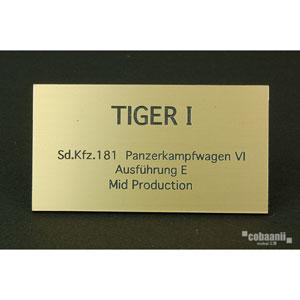 フロントラインシリーズ PANZER TITLE WW2ドイツタイガー 中期生産型【FS-027】 cobaanii mokei工房(コバアニ模型工房)