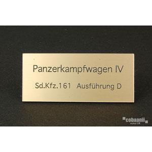 フロントラインシリーズ PANZER TITLE WW2ドイツ四号戦車D型【FS-035】 cobaanii mokei工房(コバアニ模型工房)