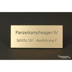 フロントラインシリーズ PANZER TITLE WW2ドイツ四号戦車F型【FS-036】 cobaanii mokei工房(コバアニ模型工房)