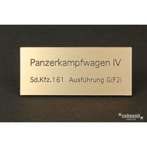 フロントラインシリーズ PANZER TITLE WW2ドイツ四号戦車G型【FS-037】 cobaanii mokei工房(コバアニ模型工房)
