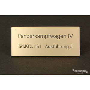 フロントラインシリーズ PANZER TITLE WW2ドイツ四号戦車J型【FS-039】 cobaanii mokei工房(コバアニ模型工房)