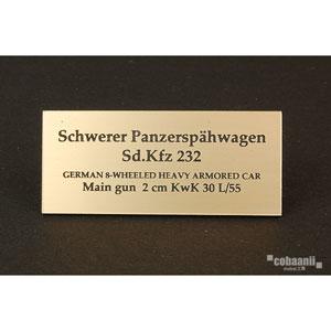フロントラインシリーズ PANZER WW2ドイツsdkfz232 8輪装甲車【FS-042】 cobaanii mokei工房(コバアニ模型工房)