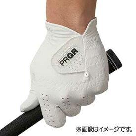 GG568023 プロギア ゴルフグローブ 左手用(ホワイト・23cm) PRGR レザーコンポジットモデル PG-119