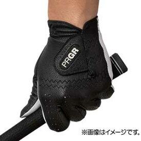 GG568125 プロギア ゴルフグローブ 左手用(ブラック・25cm) PRGR レザーコンポジットモデル PG-119