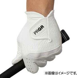 GG569025 プロギア ゴルフグローブ 左手用(ホワイト×ホワイト・25cm) PRGR 合成皮革モデル PG-219