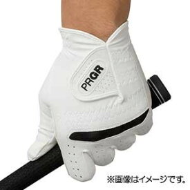 GG569121 プロギア ゴルフグローブ 左手用(ホワイト×ブラック・21cm) PRGR 合成皮革モデル PG-219