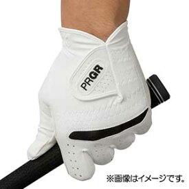 GG569124 プロギア ゴルフグローブ 左手用(ホワイト×ブラック・24cm) PRGR 合成皮革モデル PG-219