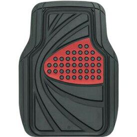 6449-01RE BONFORM カーマット デザインラバーマット 48x65cm フロント1枚 ・普通車用(レッド) ボンフォーム 6449-01