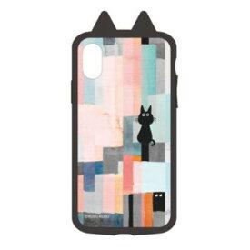 I32AKS02 サンクレスト iPhone XS/X用 衝撃吸収ケース KUSUKUSU IJOY(カラフルねこ)