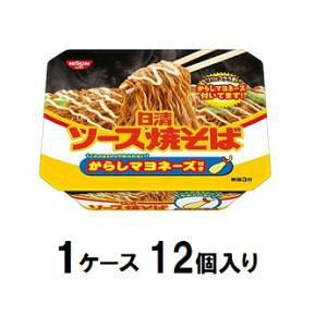 日清ソース焼そば カップ からしマヨネーズ付き 108g(1ケース12個入) 日清食品 Nヤキソバカラシマヨツキ108GX12