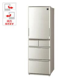 【250円OFF■当店限定クーポン 10/21迄】(標準設置料込)SJ-W412E-S シャープ 412L 5ドア冷蔵庫(シルバー系) SHARP プラズマクラスター冷蔵庫 どっちもドア