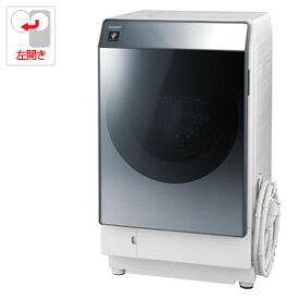 (標準設置料込)ES-W112-SL シャープ 11.0kg ドラム式洗濯乾燥機【左開き】シルバー系 SHARP [ESW112SL]