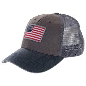 BC5FFA34 ブラッククローバー メンズキャップ(グレー/ネイビー・サイズ:フリー) BLACKCLOVER USA FLAG PATCH
