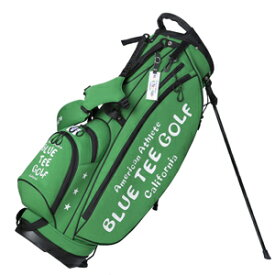 CB-003-GR ブルーティーゴルフ ストレッチスタンドキャディーバッグ(グリーン・9型・46インチ対応) BLUE TEE GOLF BTG-CB-003
