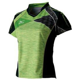 82JA720137XL ミズノ 卓球用ゲームシャツ(レディース)(グリーンゲッコー・サイズ:XL) mizuno 2017年卓球女子日本代表レプリカ