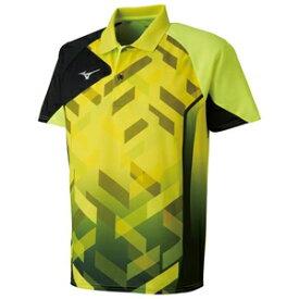 82JA801031150 ミズノ 卓球用ゲームシャツ(ジュニア)(セーフティーイエロー・サイズ:150cm) MIZUNO 82JA8010_j