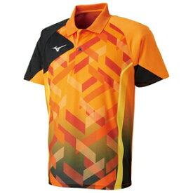 82JA801053150 ミズノ 卓球用ゲームシャツ(ジュニア)(ポップオレンジ・サイズ:150cm) MIZUNO 82JA8010_j