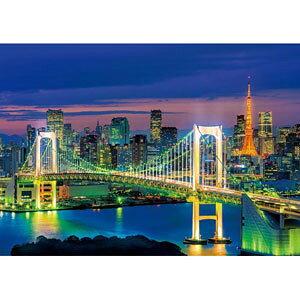 日本の風景 お台場の夜景(東京) 216スモールピース ジグソーパズル エポック社