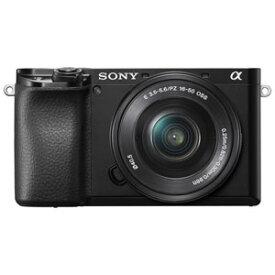 ILCE-6100L-B ソニー デジタル一眼カメラ「α6100」パワーズームレンズキット(ブラック)