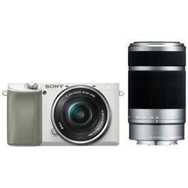 ILCE-6100Y-W ソニー デジタル一眼カメラ「α6100」ダブルズームレンズキット(ホワイト)