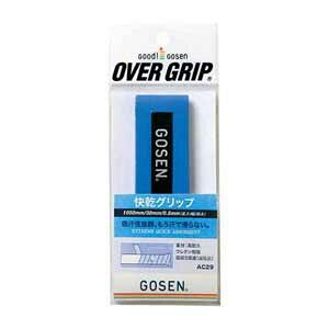 GOS-AC29BL ゴーセン 快感グリップ(ブルー・長さ1050mm×幅30mm×厚さ0.5mm) GOSEN テニス・バドミントン用オーバーグリップ