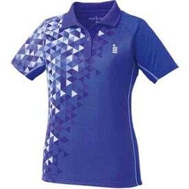 GOS-T1713-75-M ゴーセン レディース ゲームシャツ(パープル・サイズ:M) GOSEN テニス・バドミントン用シャツ