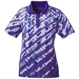 GOS-T1815-75-LL ゴーセン レディース ゲームシャツ(パープル・サイズ:LL) GOSEN テニス・バドミントン用シャツ