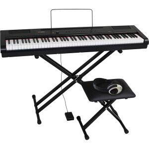 PA-88H-PLUS/BK4テンSET アルテシア 電子ピアノ【椅子&ヘッドホン&キーボードスタンド付き】(ブラック) Artesia