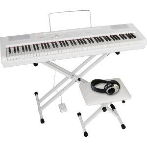 PA-88H-PLUS/WH4テンSET アルテシア 電子ピアノ【椅子&ヘッドホン&キーボードスタンド付き】(ホワイト) Artesia