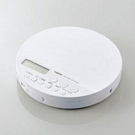 LCP-PAP02BWH エレコム Bluetooth対応 ポータブルCDプレーヤー(ホワイト) ELECOM