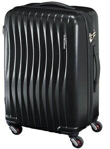 1-622-01-06 エンドー鞄 超静穏スーツケース 47cm ファスナータイプ(マット加工) 34L マットブラック FREQUENTER WAVE