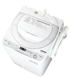 (標準設置料込)ES-GE7D-W シャープ 7.0kg 全自動洗濯機 ホワイト系 SHARP 穴なし槽 [ESGE7DW]
