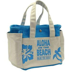 TT004-BL ブルーティーゴルフ アロハオンザビーチ ラウンドトートバッグ(ブルー) BLUE TEE GOLF ALOHA ON THE BEACH
