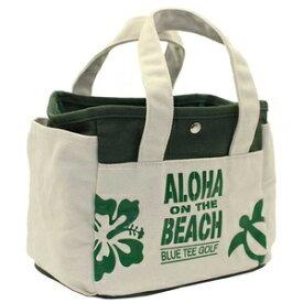 TT004-GR ブルーティーゴルフ アロハオンザビーチ ラウンドトートバッグ(グリーン) BLUE TEE GOLF ALOHA ON THE BEACH