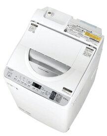 (標準設置料込)ES-TX5D-S シャープ 5.5kg 洗濯乾燥機 シルバー系 SHARP 穴なし槽 [ESTX5DS]